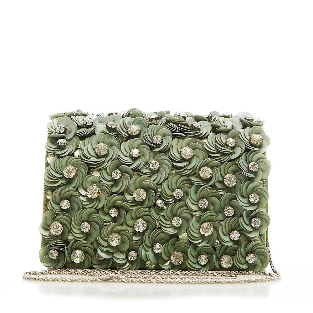 Marchesa Floral Detail Box Shoulder Bag 3