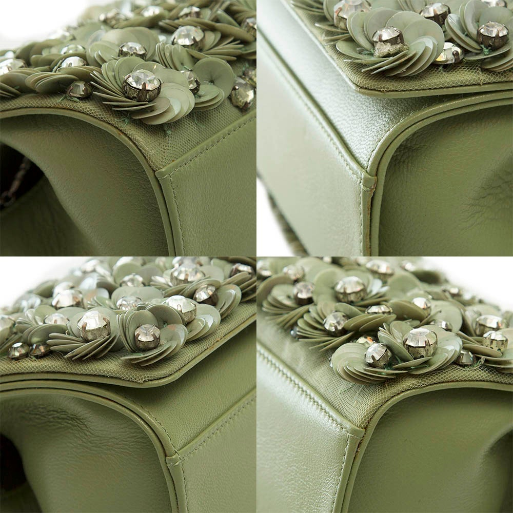 Marchesa Floral Detail Box Shoulder Bag 6