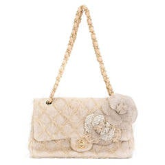 Chanel Straw Flap Shoulder Bag