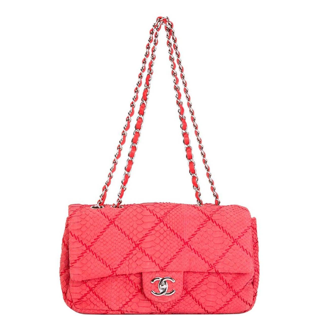 Chanel Python Flap Shoulder Bag at 1stdibs 6c5866debbfeb