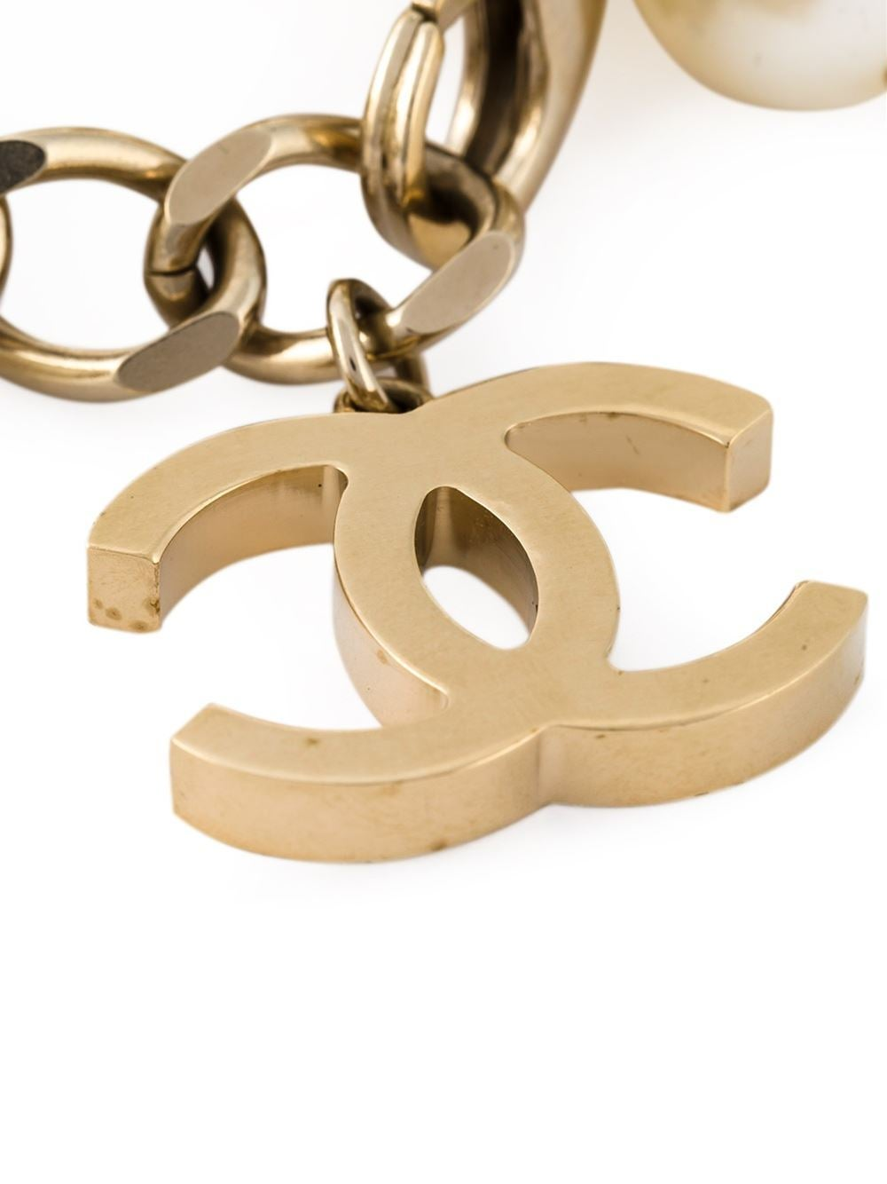 Chanel Dangling Faux-Pearl Bracelet 3