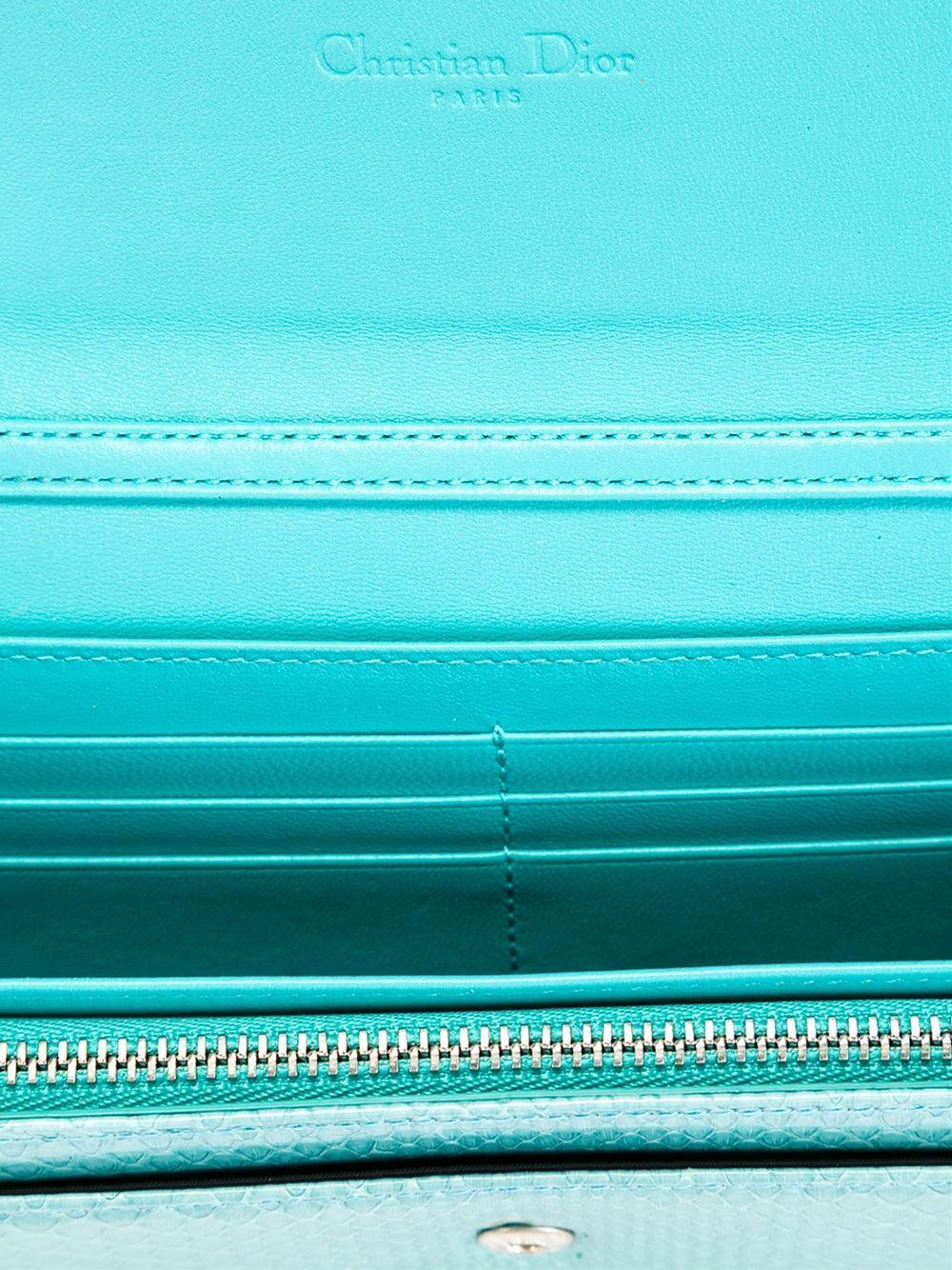 Christian Dior Python Continental Wallet 3