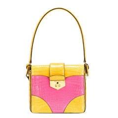 UNIQUE MADE TO ORDER Prada Colour Block Crocodile Handbag