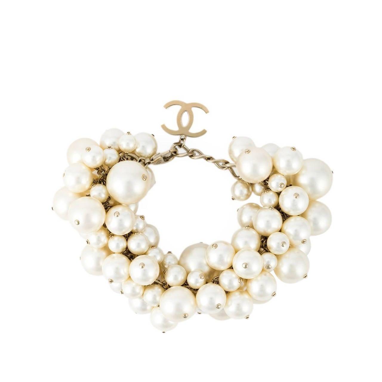 Chanel Dangling Faux-Pearl Bracelet 1