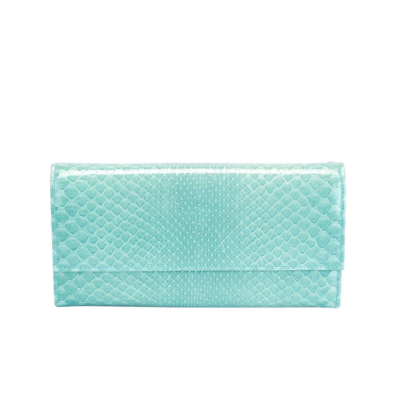 Christian Dior Python Continental Wallet 1