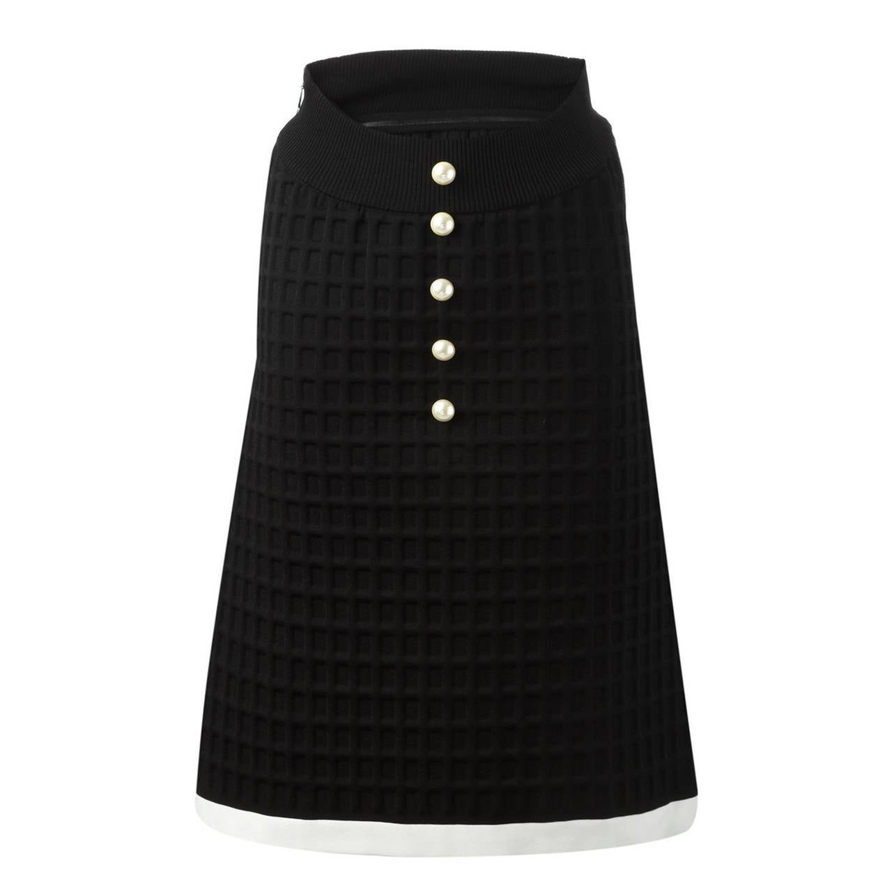 Chanel Neoprene Skirt For Sale