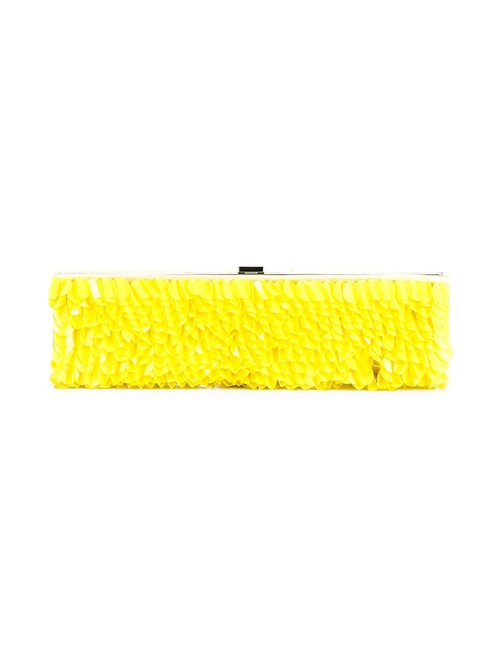 Yellow Roger Vivier Embellished Clutch For Sale