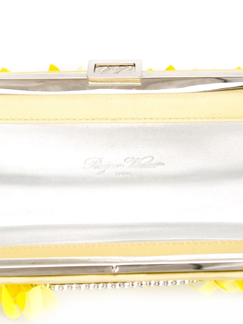 Roger Vivier Embellished Clutch In Excellent Condition For Sale In London, GB