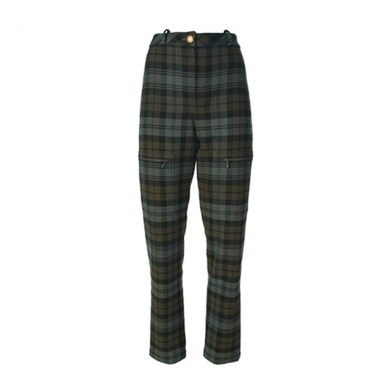 Chanel Vintage Checked Trousers 1