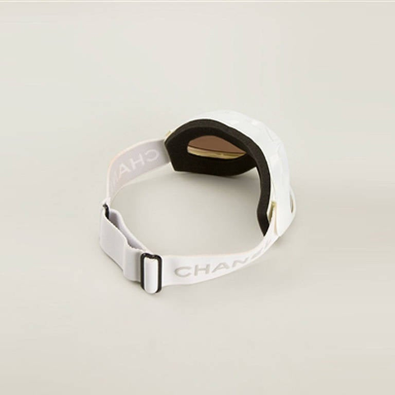 5613661b6210 Chanel Vintage Ski Goggles. Take the sports luxe trend to the next level  with these