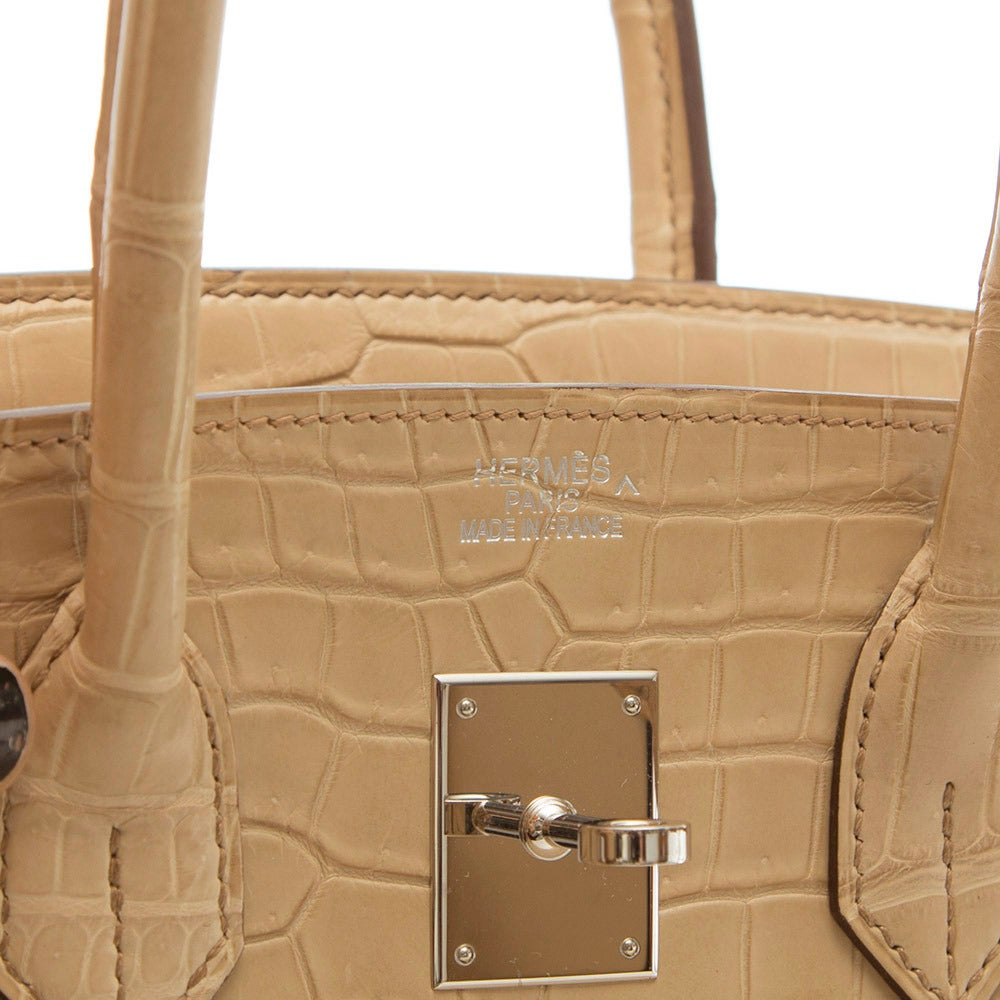 Hermès Parchemin Crocodile Birkin 35cm 6