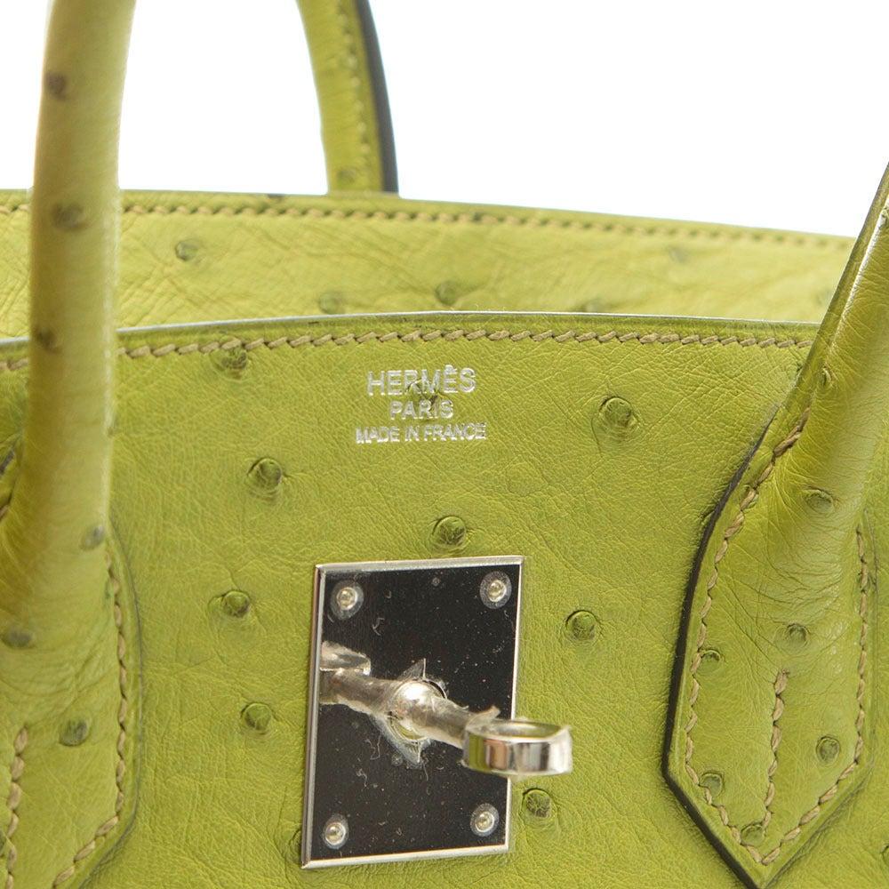 Hermès Lime Green Ostrich Leather Birkin 30cm at 1stdibs 6f006432bc231