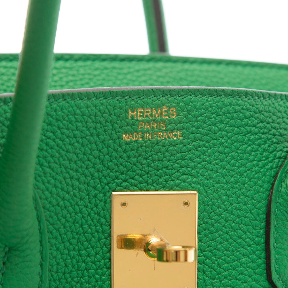 Hermès Bamboo Green Togo Leather Birkin 35cm 6