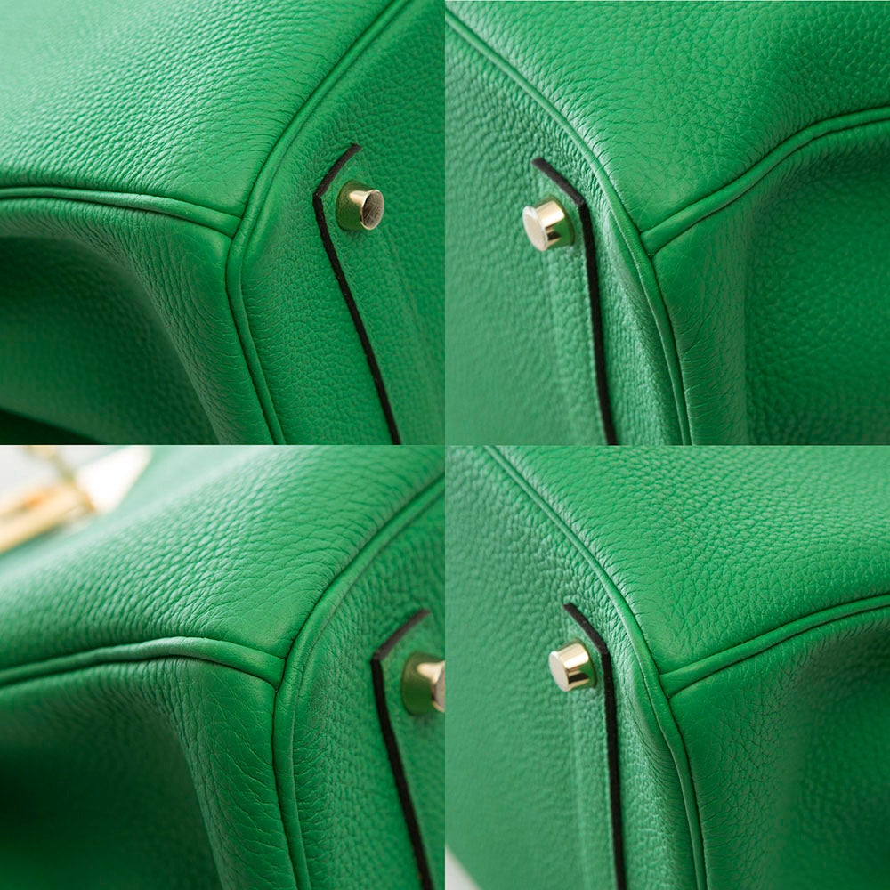 Hermès Bamboo Green Togo Leather Birkin 35cm 8