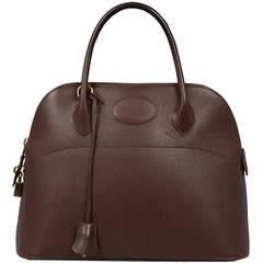 Hermès Brown Epsom Bolide Bag
