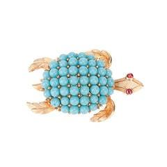 Trifari Vintage 1960's Turtle Brooch