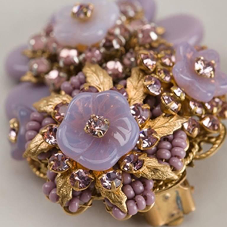 Stanley Hagler 1950s Floral Earrings 3
