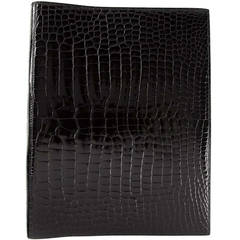 Hermès Crocodile Leather Ring Binder