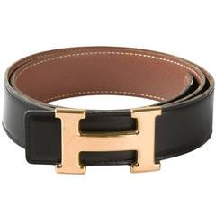 Hermès Vintage Branded Buckle Belt