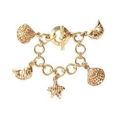 Céline Vintage Sea Life Charm Bracelet