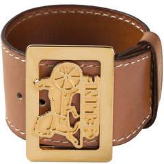 Céline Vintage Buckled Cuff Bracelet