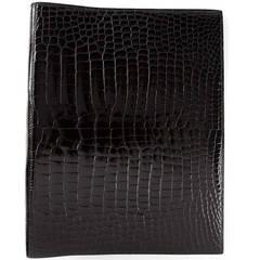 Hermès Special Order Crocodile Leather Ring Binder