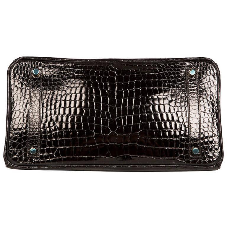 silver plum handbags - Herm��s 35cm Black Crocodile Birkin Bag at 1stdibs