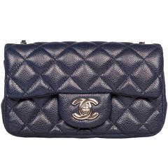 Chanel Mini Blue Classic Flap Bag
