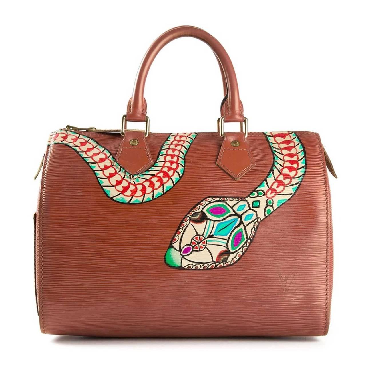 Louis Vuitton Hand Painted Epi Speedy Bag At 1stdibs