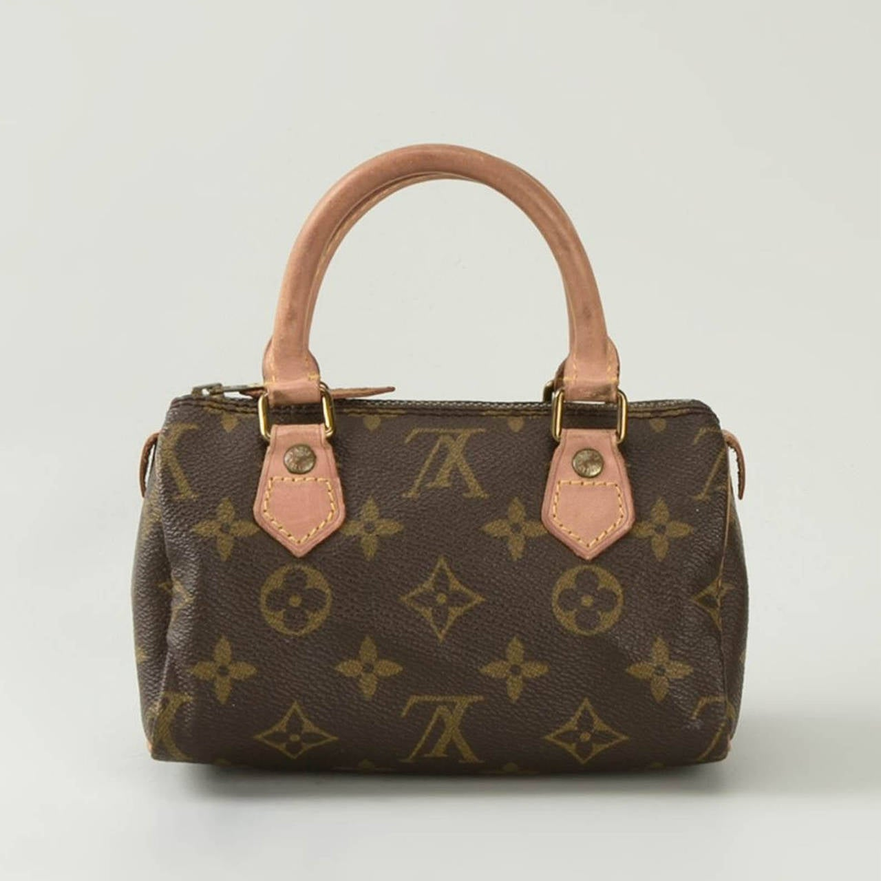 hand painted vintage louis vuitton leather monogram mini