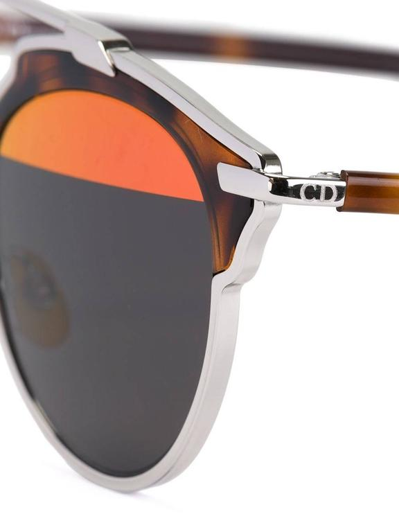 Black Christian Dior Top Bar Sunglasses For Sale