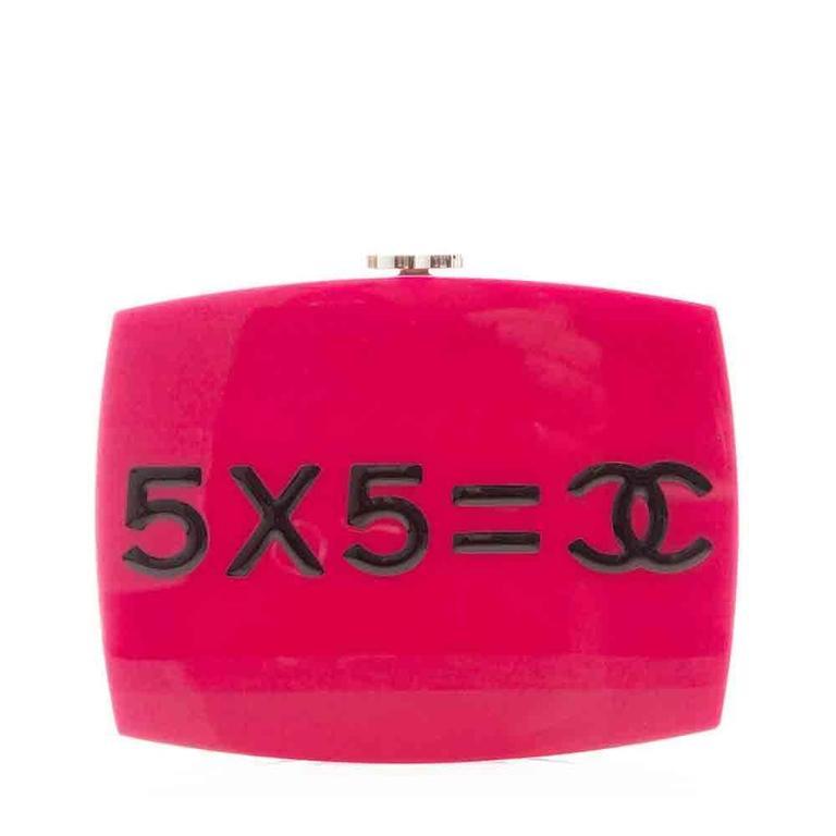Chanel Pink Plexiglass Equation Bag For Sale 5