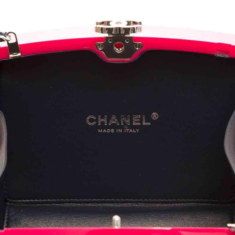 Chanel Pink Plexiglass Equation Bag 6