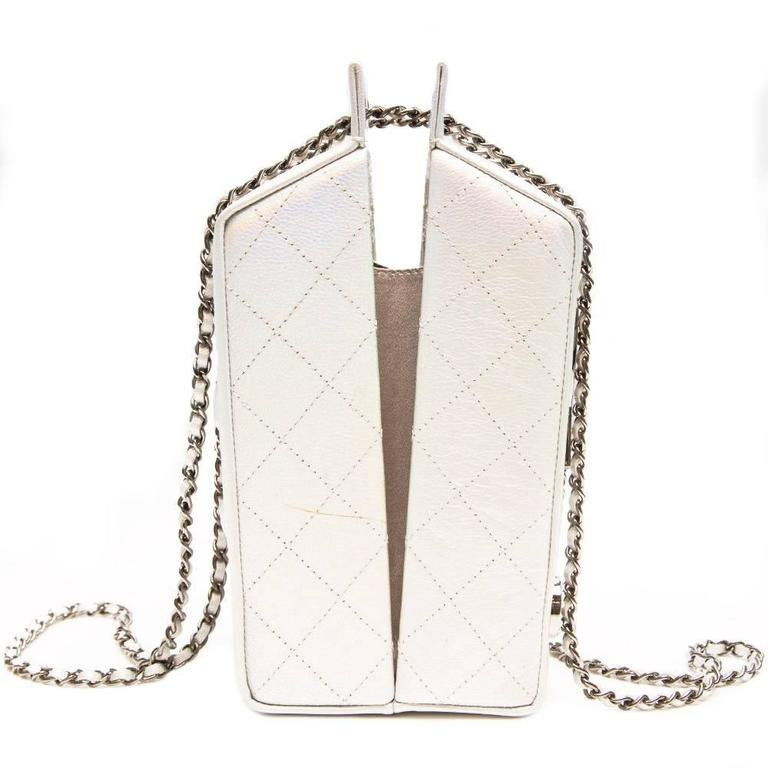 Chanel Silver Milk Carton Bag 3