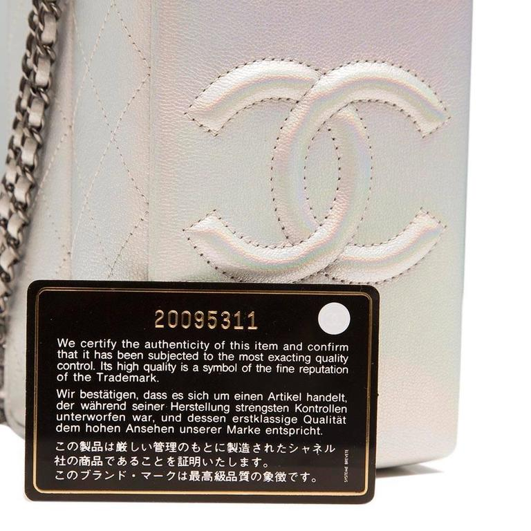 Chanel Silver Milk Carton Bag 7