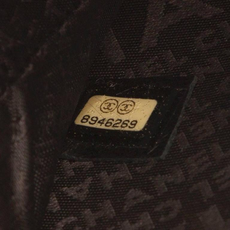 "RARE/COLLECTOR 'S ITEM Chanel Black ""Vinyl Bag"" 8"