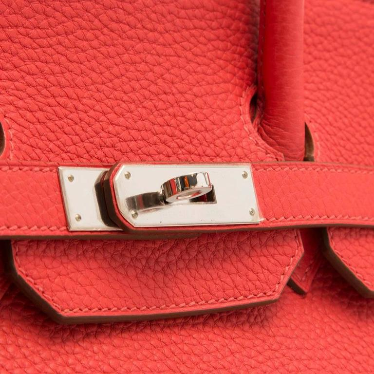 Hermes Rose Jaipur Birkin Bag 35cm For Sale 1