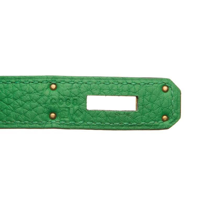 Hermes Kelly Bamboo Green Bag 35cm 5