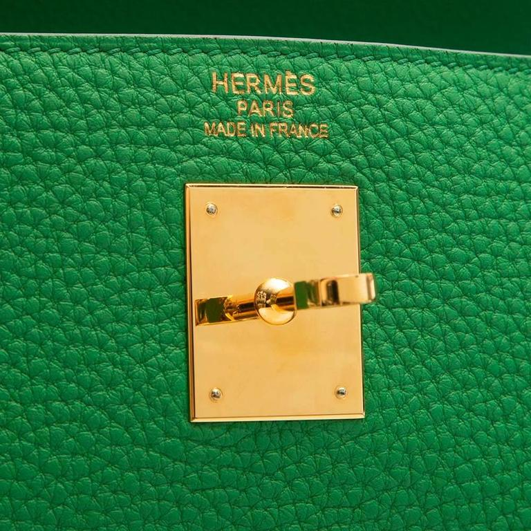 Hermes Kelly Bamboo Green Bag 35cm 8