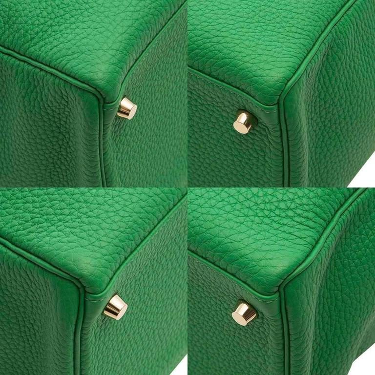 Hermes Kelly Bamboo Green Bag 35cm 9