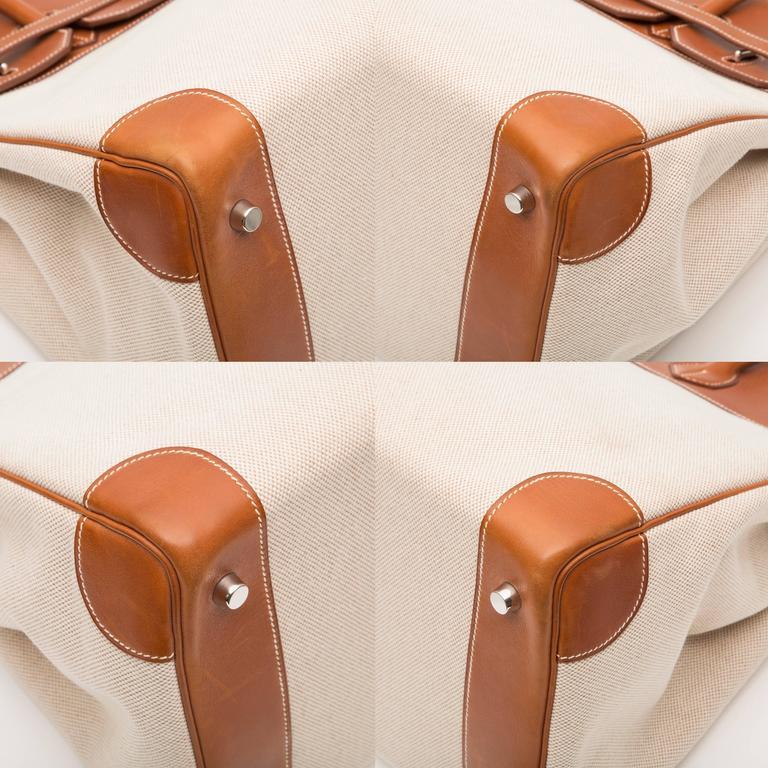 Hermes HAC Toile 35cm Birkin For Sale 5