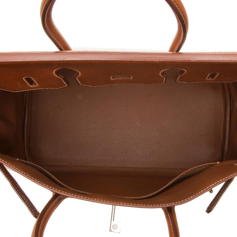 Women's Hermes HAC Toile 35cm Birkin For Sale