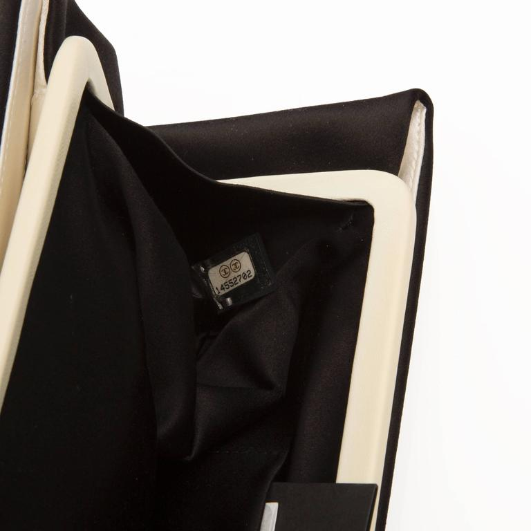 Chanel Black Satin Clutch For Sale 1