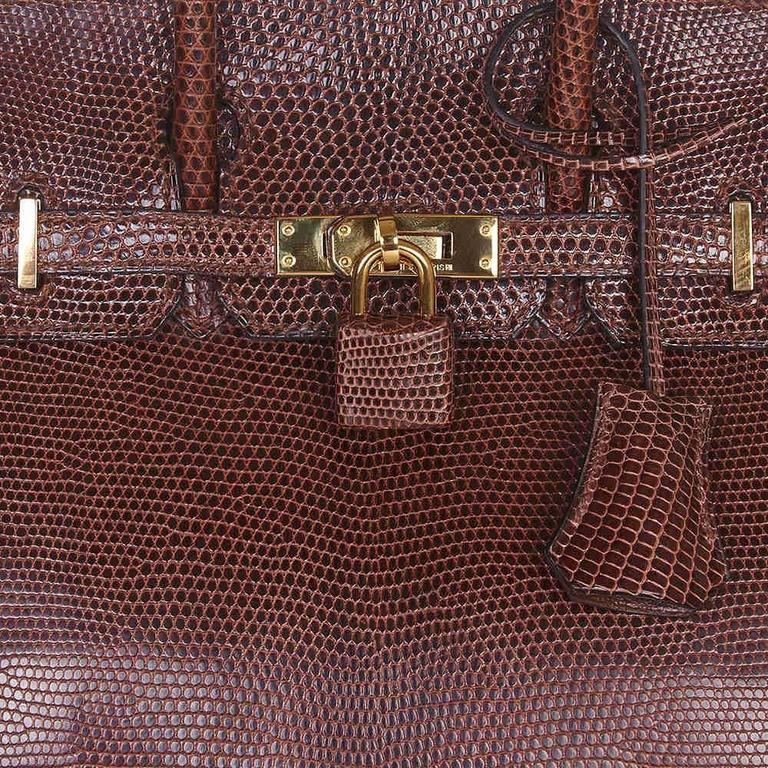 Hermes Cocaon Lizard Birkin 25 Bag In Excellent Condition For Sale In London, GB