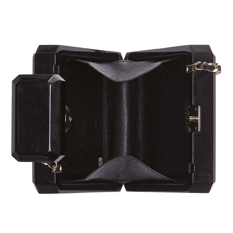 Chanel Black No5 Bottle Minaudière In Excellent Condition For Sale In London, GB
