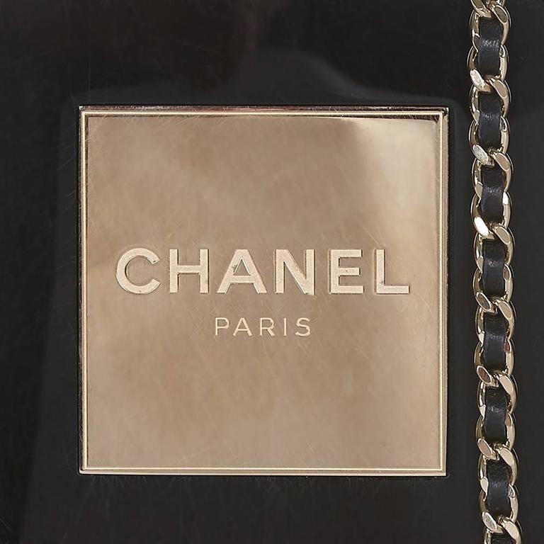 Women's Chanel Black No5 Bottle Minaudière For Sale