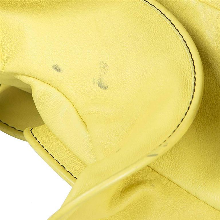 Valentino Ruffled Yellow Leather Handbag For Sale 1