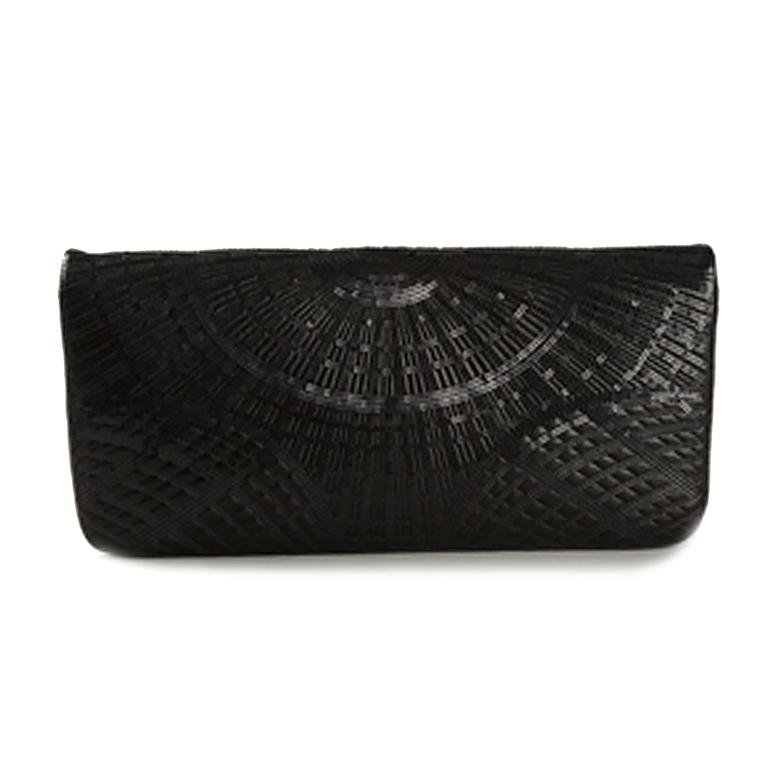 Chanel Black Sequinned Clutch 3