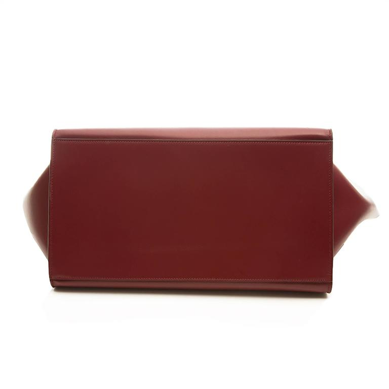 Celine Burgundy Red Trapeze Handbag 4