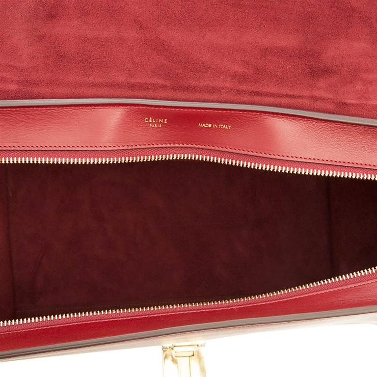 Celine Burgundy Red Trapeze Handbag 7